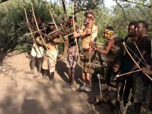 Hadzabe Bow and arrow line up